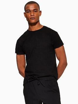 topman-topman-muscle-fit-roller-t-shirt-black