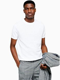topman-topman-short-sleeve-knitted-jumper-white
