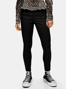 topshop-topshop-petite-jamie-black-coated-clean-skinny-jeans-black