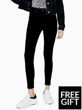 topshop-topshop-petite-joni-coated-skinny-jeans-black