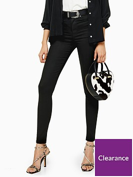topshop-tall-black-coated-jamie-skinny-jeans-black