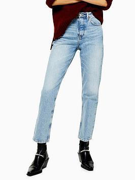 Topshop Topshop Bleach Wash Editor Jeans - Blue Picture