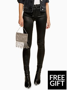 topshop-topshop-coated-jamie-super-high-waisted-black-skinny-jeans