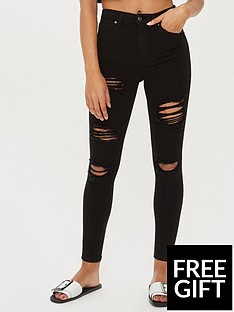 topshop-topshop-rip-jamie-super-high-waisted-black-skinny-jeans