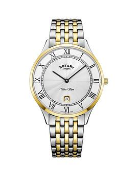 rotary-rotary-ultra-slim-silver-sunray-and-gold-detail-date-dial-two-tone-stainless-steel-bracelet-ladies-watch