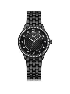 rotary-exclusivenbspblack-textured-swarovski-set-dial-black-ip-stainless-steel-bracelet-ladies-watch