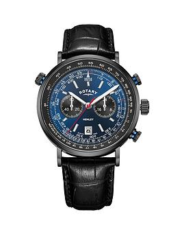 rotary-rotary-henley-blue-and-red-detail-chronograph-dial-black-leather-strap-mens-watch
