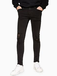 topman-topman-goldie-spray-on-jeans-black