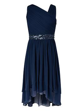 Monsoon Monsoon Abigail One Shoulder Prom Dress - Navy Picture