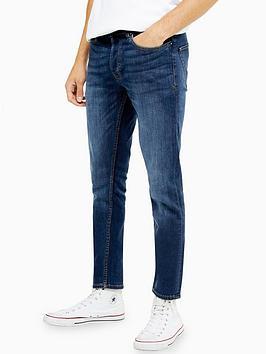 Topman Topman Hendrix Skinny Jeans - Blue Picture