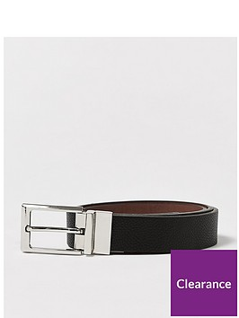 topman-topman-reversible-faux-leather-belt-multi