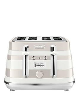 Delonghi   Avvolta Class Ctac4003.W 4 Slice Toaster - White