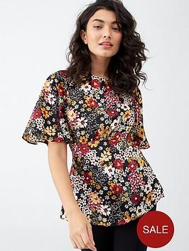 v-by-very-kimono-tie-back-top-floral