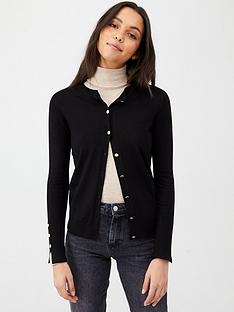 v-by-very-core-rib-detail-crew-cardigan-black