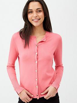 v-by-very-core-rib-detail-crew-cardigan-pink