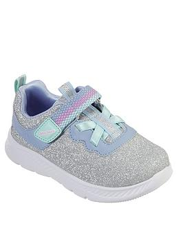 skechers-toddler-girls-comfy-flex-2-trainers-silver