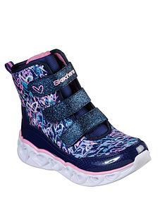 skechers-heart-lights-strap-boots-blue