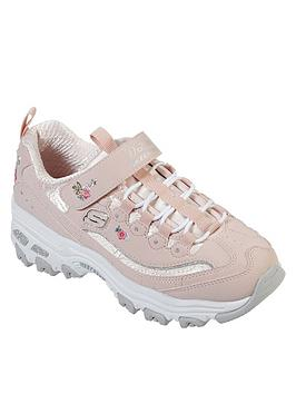skechers-girls-dlites-chunky-trainers-light-pink