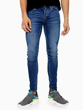 Topman Topman Topman Sandler Spray-On Jeans - Blue Picture