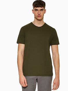 topman-topman-classic-crew-neck-t-shirt-khaki