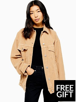topshop-topshop-oversized-cord-jacket-sand