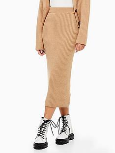 topshop-topshop-ribbed-knit-midi-skirt-camel