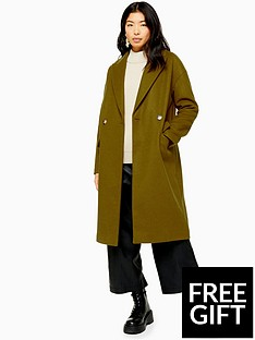 topshop-topshop-double-button-longline-coat-khaki