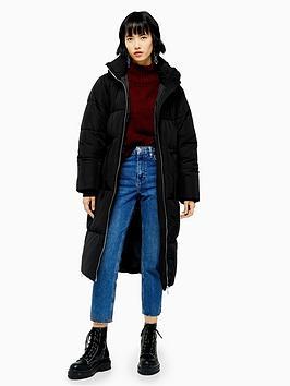 topshop-longline-padded-jacket-black