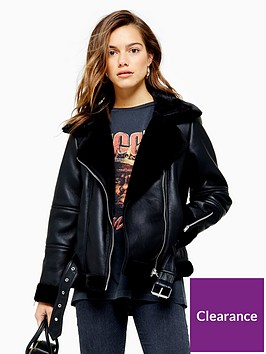 topshop-petite-cora-faux-fur-pu-biker-jacket-black