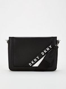 dkny-bond-logo-embossed-cross-body-black