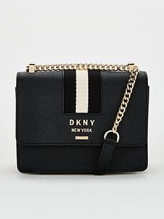 dkny-liza-small-shoulder-flap-black