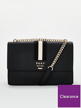 dkny-liza-medium-shoulder-flap-black