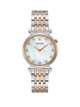 Bulova Bulova Bulova Regatta Mother Of Pearl And Diamond Dial Rose Gold  ... Picture