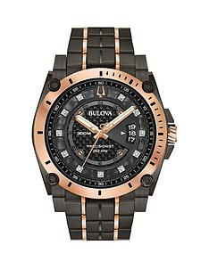 bulova-bulova-precisionist-gunmetal-grey-and-rose-gold-detail-crystal-set-dial-two-tone-stainless-steel-bracelet-mens-watch