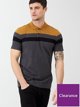 v-by-very-colour-block-pique-polo-shirt-mustardcharcoal