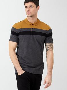 v-by-very-colour-block-texture-polo