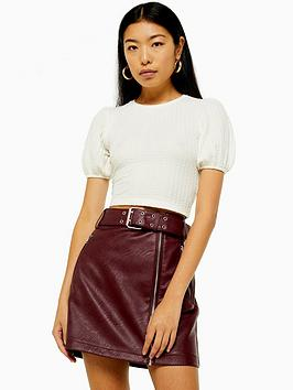 topshop-puff-sleeve-jersey-cropped-top