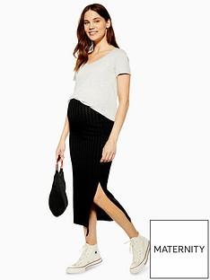topshop-topshop-maternity-ribbed-midi-skirt-black