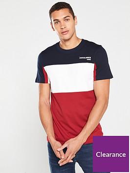 jack-jones-core-colour-block-t-shirt-redwhiteblue