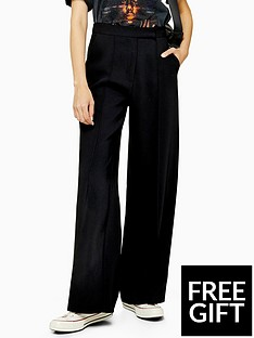 topshop-topshop-pintuck-clean-wide-trousers-black