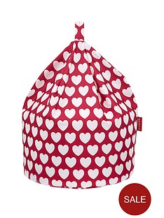 kaikoo-kids-cotton-beanbag-pink-heart