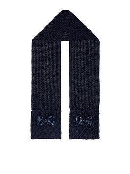 monsoon-girls-olivia-diamante-bow-scarf-navy