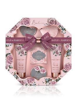 baylis-harding-boudoire-velvet-rose-cashmere-hexagonal-tray-set