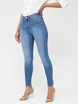 V by Very V By Very Tall Florence High Rise Skinny Jeans - Mid Wash Picture