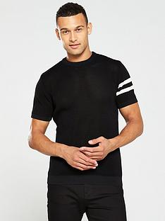 river-island-white-blocked-slim-fit-knitted-t-shirt