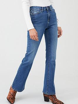 V by Very V By Very Harper High Rise Bootcut Jeans - Mid Wash Picture