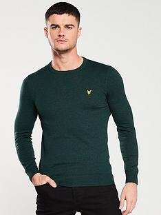 lyle-scott-crew-neck-jumper-forest-green