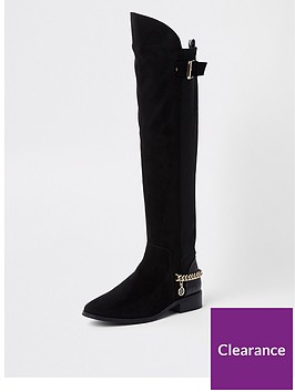 river-island-river-island-over-the-knee-chain-detail-boot-black
