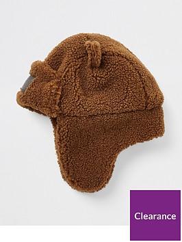 river-island-mini-mini-boys-teddy-trapper-hat-brown