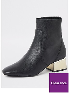 river-island-river-island-leather-heel-detail-ankle-boots-black